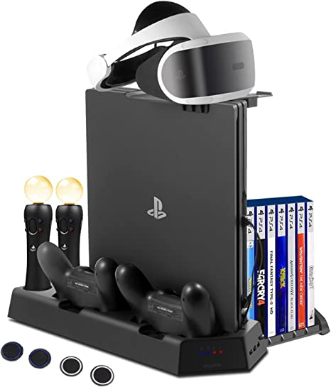 FlexDin PlayStation 4 base vertical con 14 Slots para juegos PS4 ...