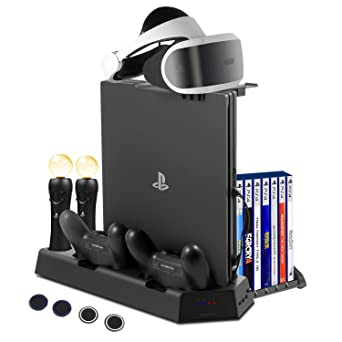 FlexDin PlayStation 4 base vertical con 14 Slots para juegos PS4/ PS VR, estación