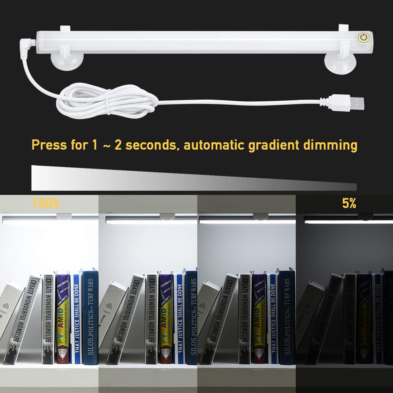 Kohree LED Spiegelleuchte USB Dimmbar Schminklict Make-up Licht Spiegellampe Kosmetiklampe Tageslichtlampe LED Leiste Tageslichtwei/ß 6500k 6W f/ür Badezimmer Schrank K/üche Unterwegs,/Energieklasse A+