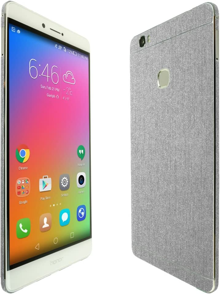 Full Coverage TechSkin with Anti-Bubble Clear Film Screen Protector Skinomi Brushed Aluminum Full Body Skin Compatible with Huawei Honor Note 8