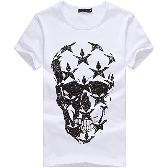Amazon.com: YKARITIANNA Big Promotion! 2019 Men Printing Tees Shirt Short Sleeve T Shirt Cotton Casual Blouse