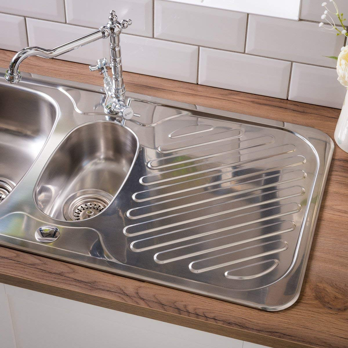 Astracast ruby 965 x 500mm stainless steel 1 5 bowl kitchen sink wastes amazon co uk diy tools