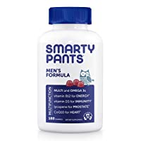 SmartyPants Men's Formula Daily Gummy Multivitamin: Vitamin C, D3, and Zinc for...