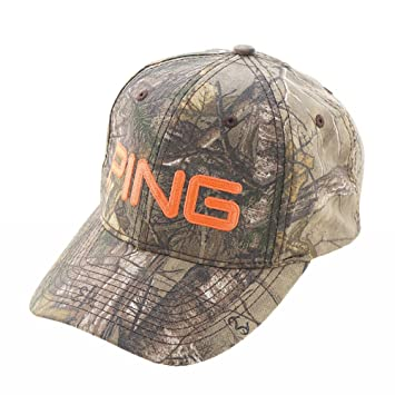 NEW Ping Limited Edition Realtree Camo Orange Adjustable Snapback Hat Cap a47200f03dc