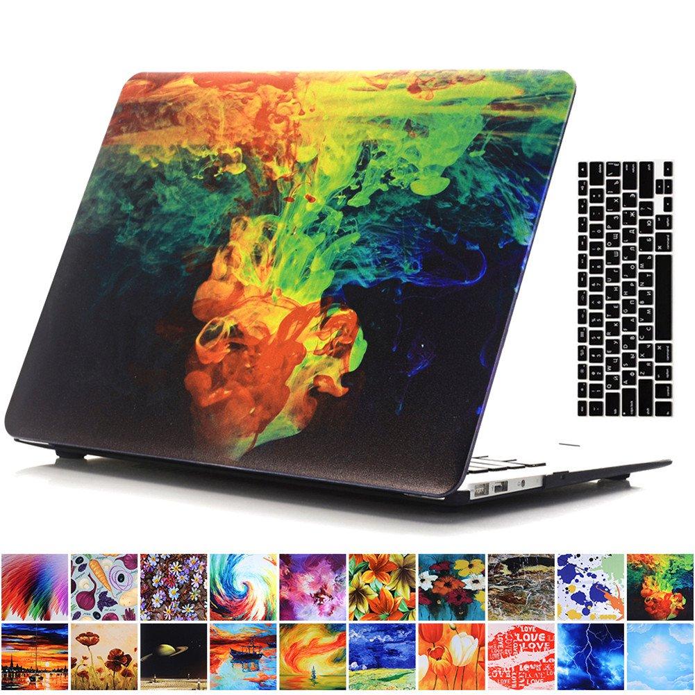 AY0070 Macbookシリーズ用ケース + キーボードカバー プロテクター Macbook Air 11 AY0070-11.6Air-C1 Color Diffusion B01LAWFURE Macbook Air 11,C1 Color Diffusion