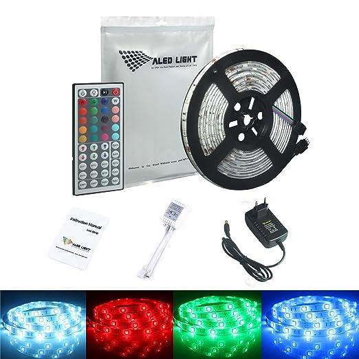 402 opinioni per ALED LIGHT® Striscia LED 5M RGB 150 LED 5050 SMD LED Impermeabile Strip Con DC