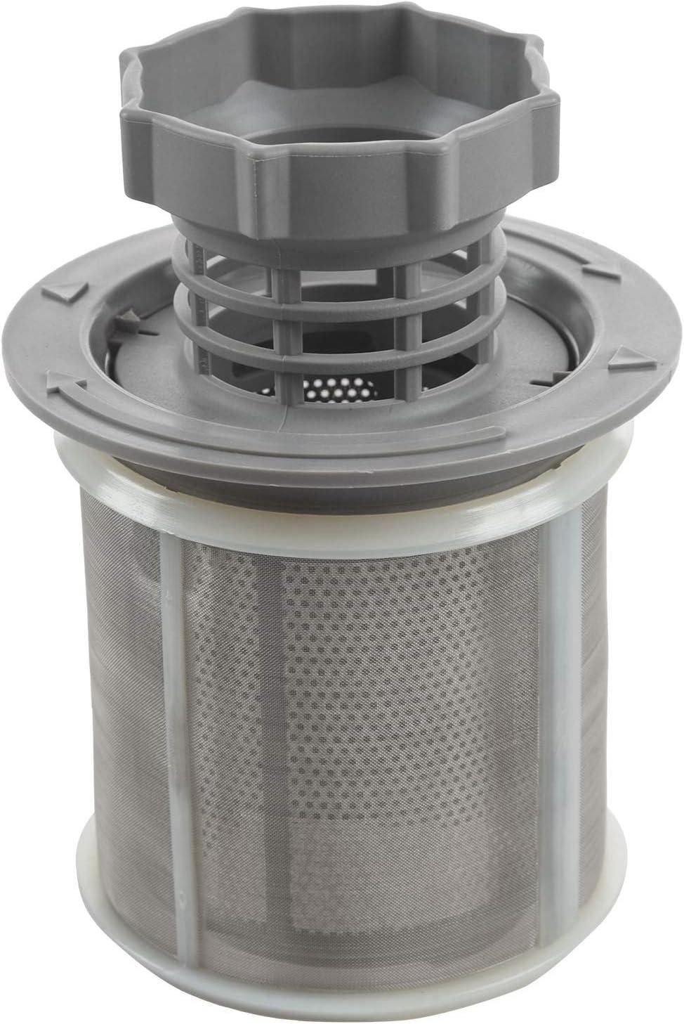 SODIAL Juego de filtro de malla de 2 piezas para lavavajillas PP gris para lavavajillas Bosch 427903 Reemplazo de la serie 170740 para lavavajillas