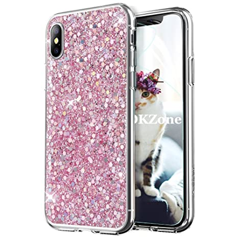 coque rose paillette iphone x