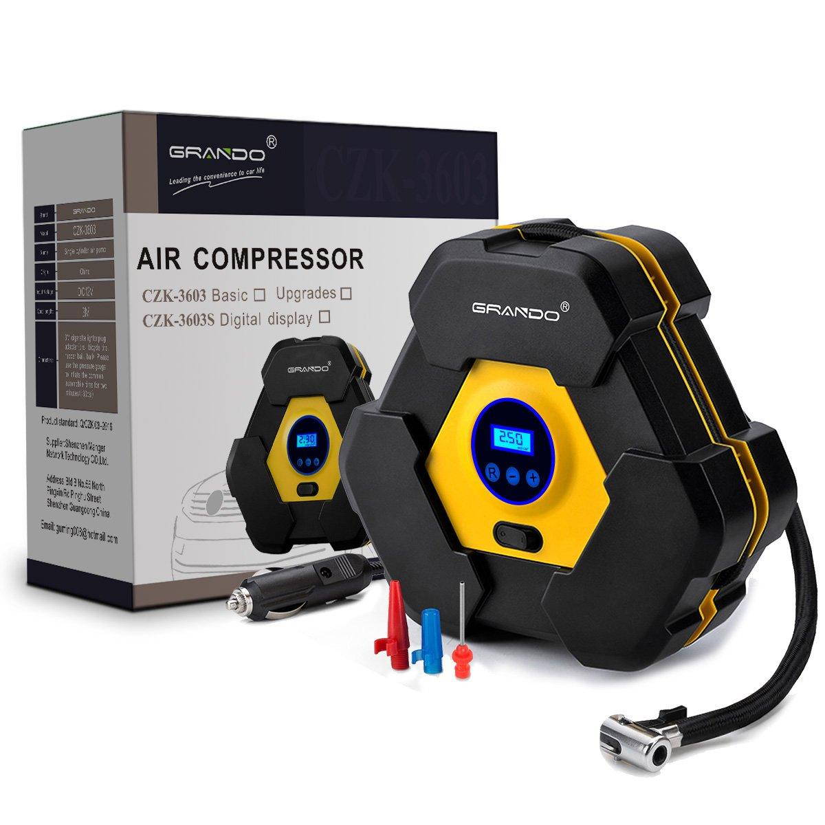 Gran Compresor de Aire Automático con pantalla digital DC V Amperios PSI