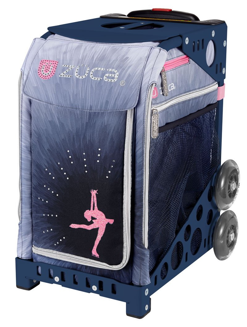 Zuca Ice Dreamz Lux Sport Insert Bag and Navy Blue Frame with Flashing Wheels by ZUCA
