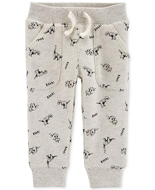 4ecf9deead Carter's Baby Boys Cotton Dinosaur Jogger Pants 12m Misty Green