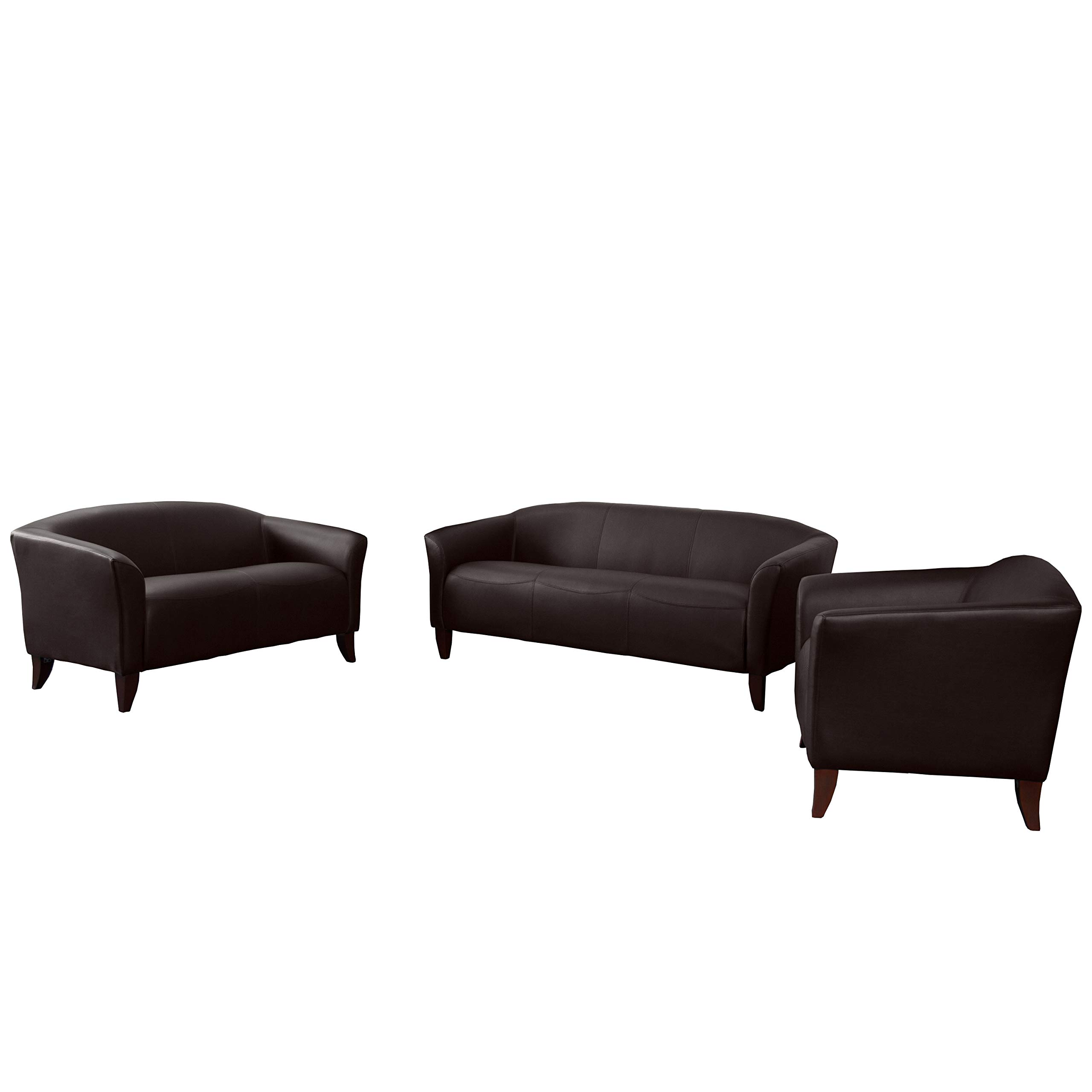 Flash Furniture HERCULES Imperial Series Reception Set in Brown by Flash Furniture