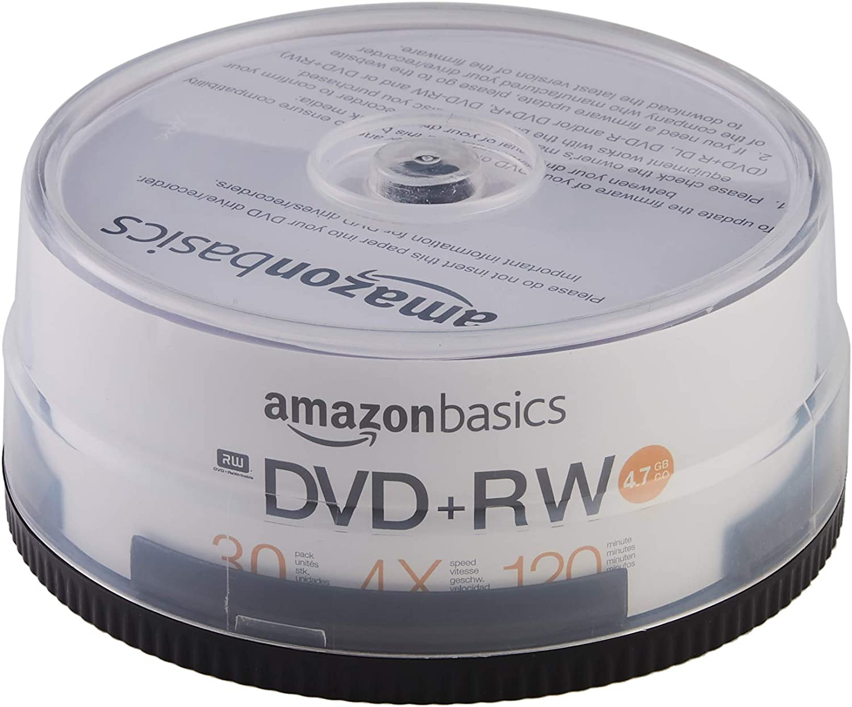AmazonBasics 4.7GB 4X DVD+RW - 30-Pack