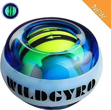LED Wrist Ball Trainer Gyroscope Strengthener Gyro Power Ball Arm Exerciser Ball