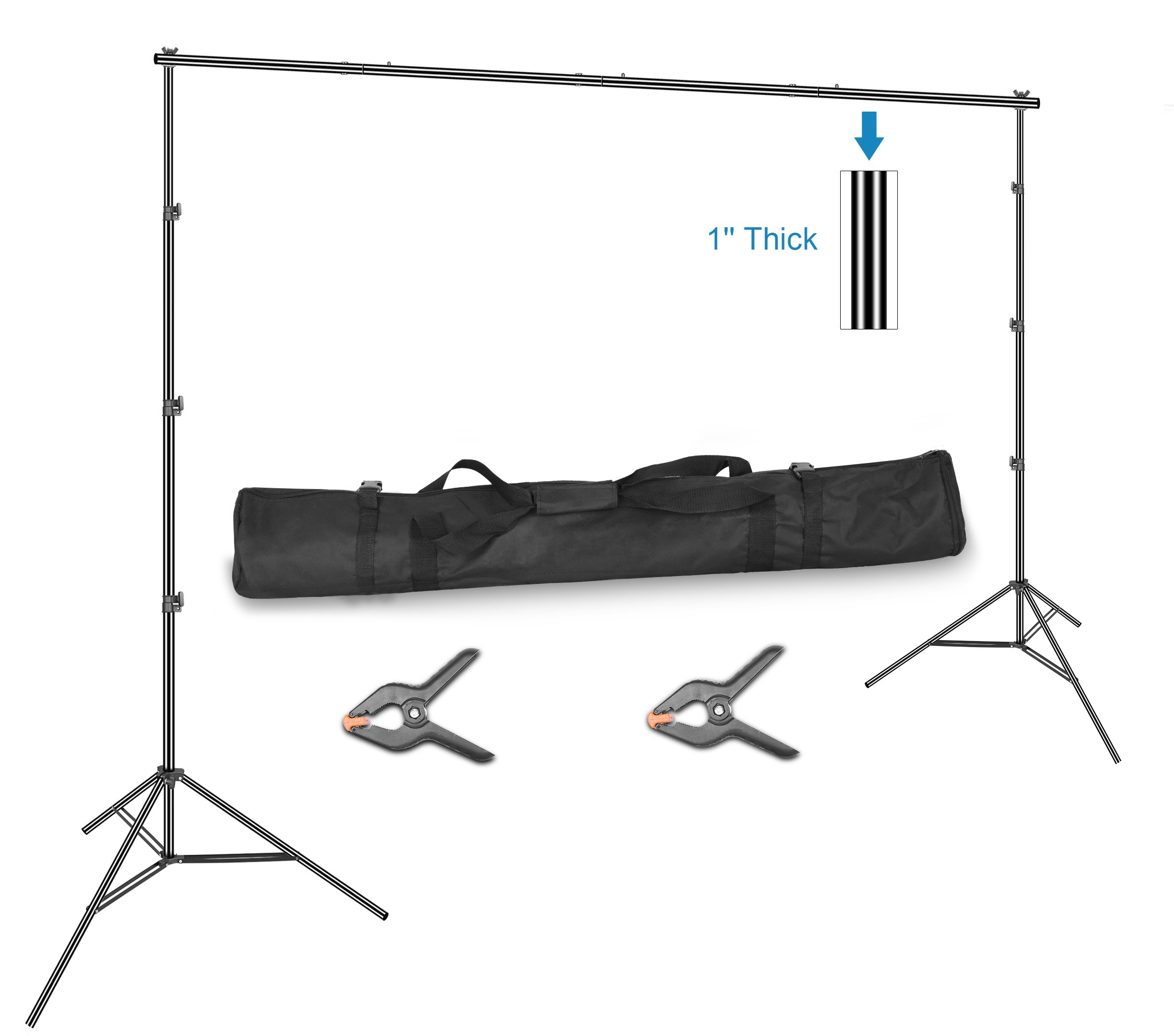 Emart 10 x 12ft (H X W) Photo Backdrop Stand Kit, Adjustable Photography Video Studio Background Stand Support System for Photo Booth Muslin by EMART