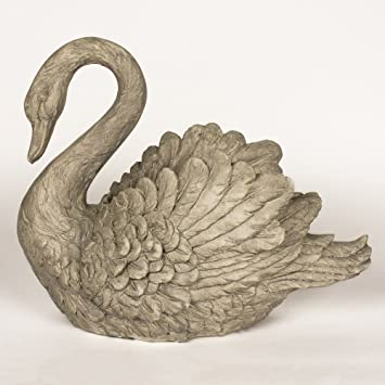Swan Planter Resin Plant Pot And Garden Ornament Amazon Co Uk