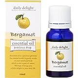デイリーディライト エッセンシャルオイル  ベルガモット 10ml(天然100% 精油 アロマ 柑橘系 甘さが少なめでみずみずしく美しい香り)