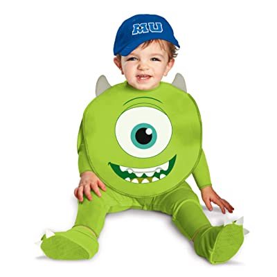 Disguise Costumes Disney Pixar Monsters University Mike Classic Infant, Green/White/Blue, 6-12 Months: Clothing