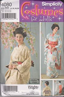 product image for Simplicity Women's Japanese Geisha Costume Sewing Pattern, Sizes 14-20