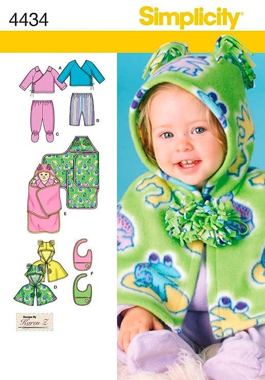 Simplicity patrones de costura para hacer ropa para bebé (: Amazon ...