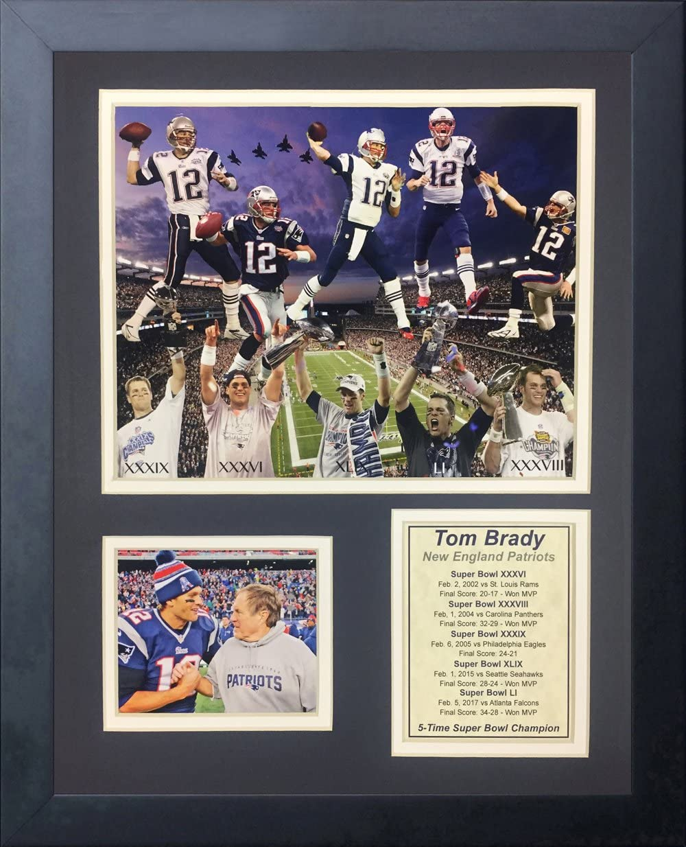 """Legends Never Die Tom Brady, New England Patriots- 2016 NFL Super Bowl Champ Collectible 
