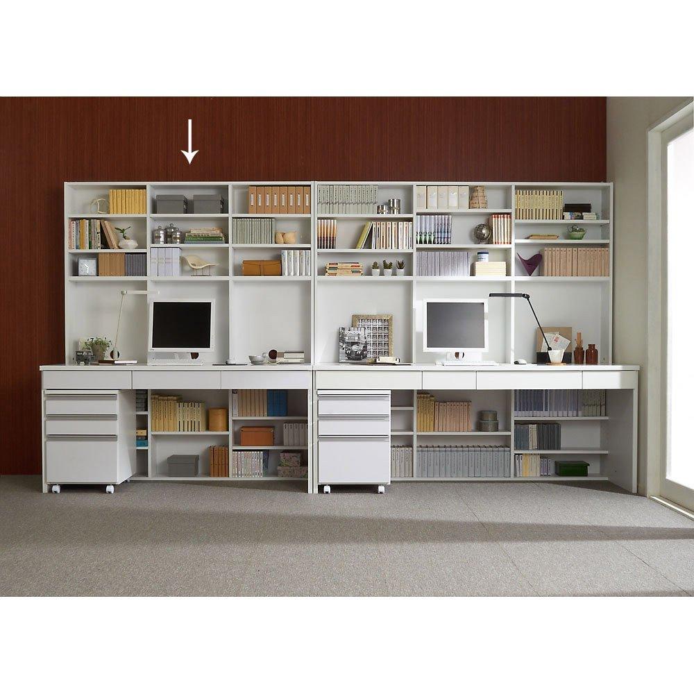 壁面収納引き出し付きデスク 幅150高さ180cm 514927(サイズはありません イ:ホワイト) B079BLRK1D イ:ホワイト イ:ホワイト
