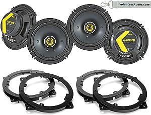 Kicker 46CSC654 Package 2 Pairs 6-1/2 Inch (6.5) Full-Range Coaxial Speaker 2-Way 100W Fits (Front and Rear Speakers) 2011-2012 Hyundai Azera, 2011-2014 Sonata, 2010-2012 Kida Optima