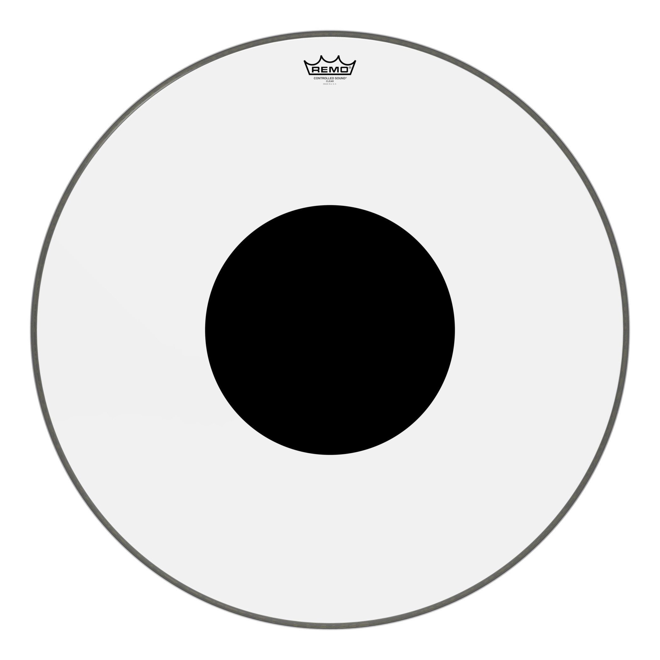 Remo Controlled Sound Clear Black Dot Bass Drumhead - Top Black Dot, 28''