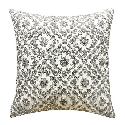 Amazon Slow Cow Cotton Decor Throw Pillow Cover Embroidery