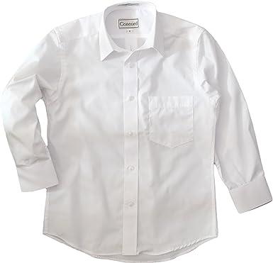 Amazon.com: CONCORD Boys White Dress Shirt - Long Sleeves ...
