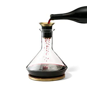 RBT Decanter with Wood Coaster and Micro-Perforated Aerator
