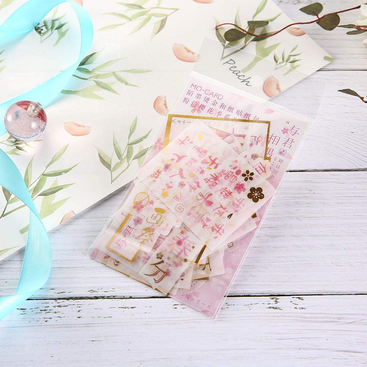 FOONEE Ephemera for Scrapbooking Letters Card Making 60 Pieces Cherry Blossom Series Vintage Ephemera Pack Journal Ephemera Card Stock for Notebook
