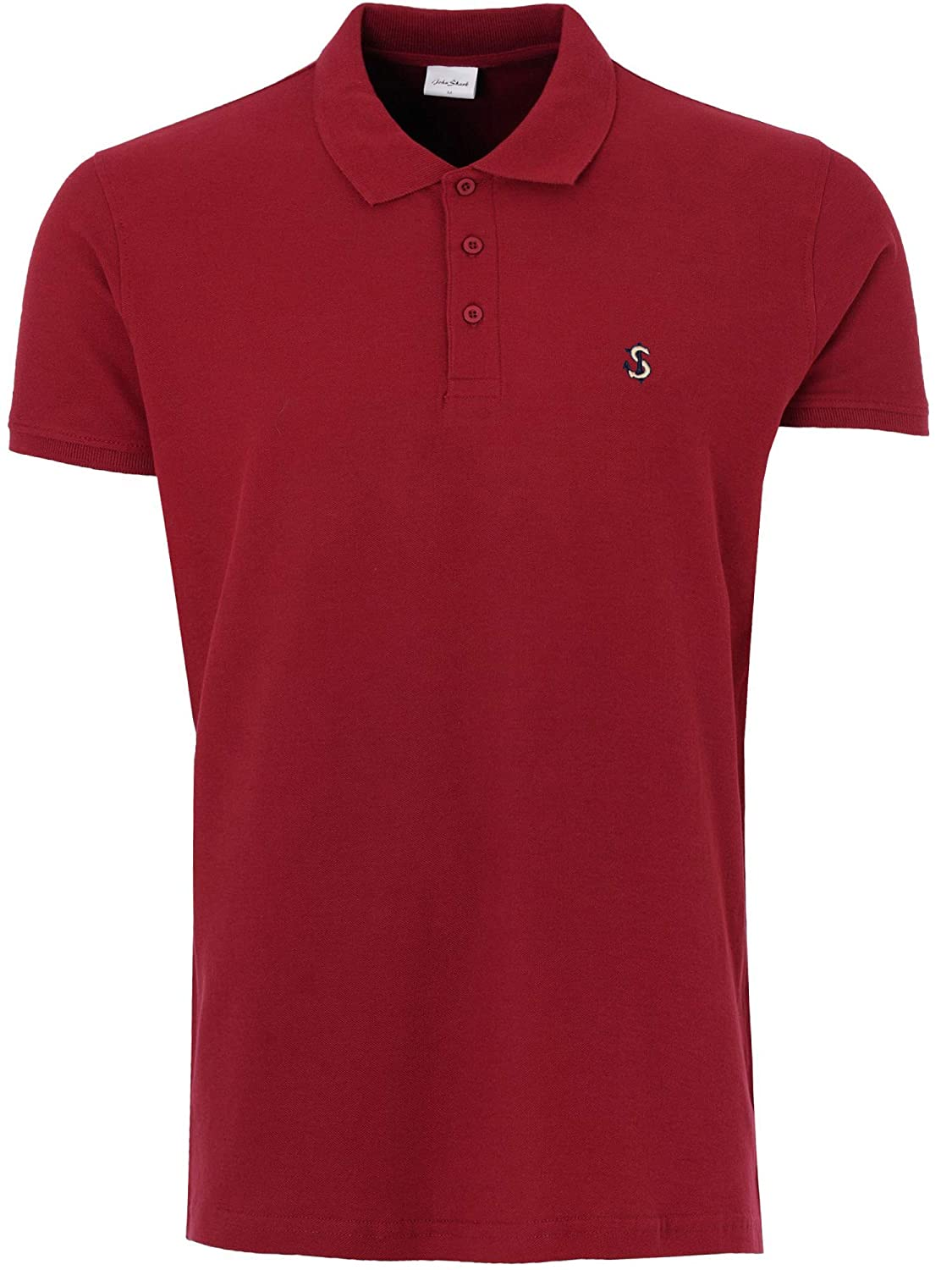 John Shark - Polo - para Hombre Rojo Garnet Burgundy Large: Amazon ...