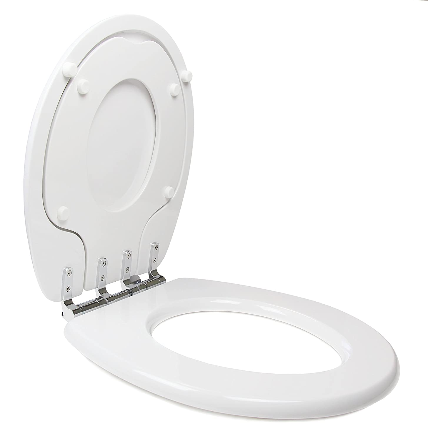 Incredible Topseat Tinyhiney Potty Round Toilet Seat Adult Child W Slow Close Chromed Metal Hinges Wood White Dailytribune Chair Design For Home Dailytribuneorg