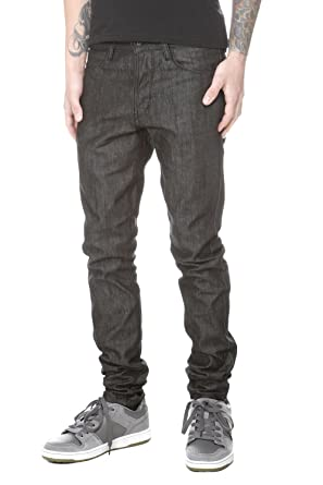 RUDE Black Raw Slouch Skinny Jeans Size : 34 at Amazon Men's ...
