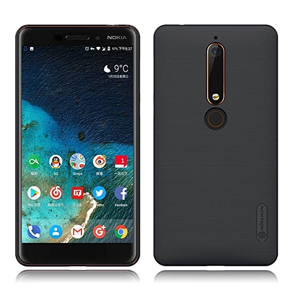 quality design 3936f 94f9b Nokia 6.1 (2018) Case, Nillkin Frosted Shield Anti Fingerprints Hard PC  Case Back Cover for Nokia 6.1 (2018) (Black)