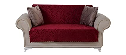 Amazoncom Chiara Rose Acacia Loveseat Slipcover 3 Cushion Sofa