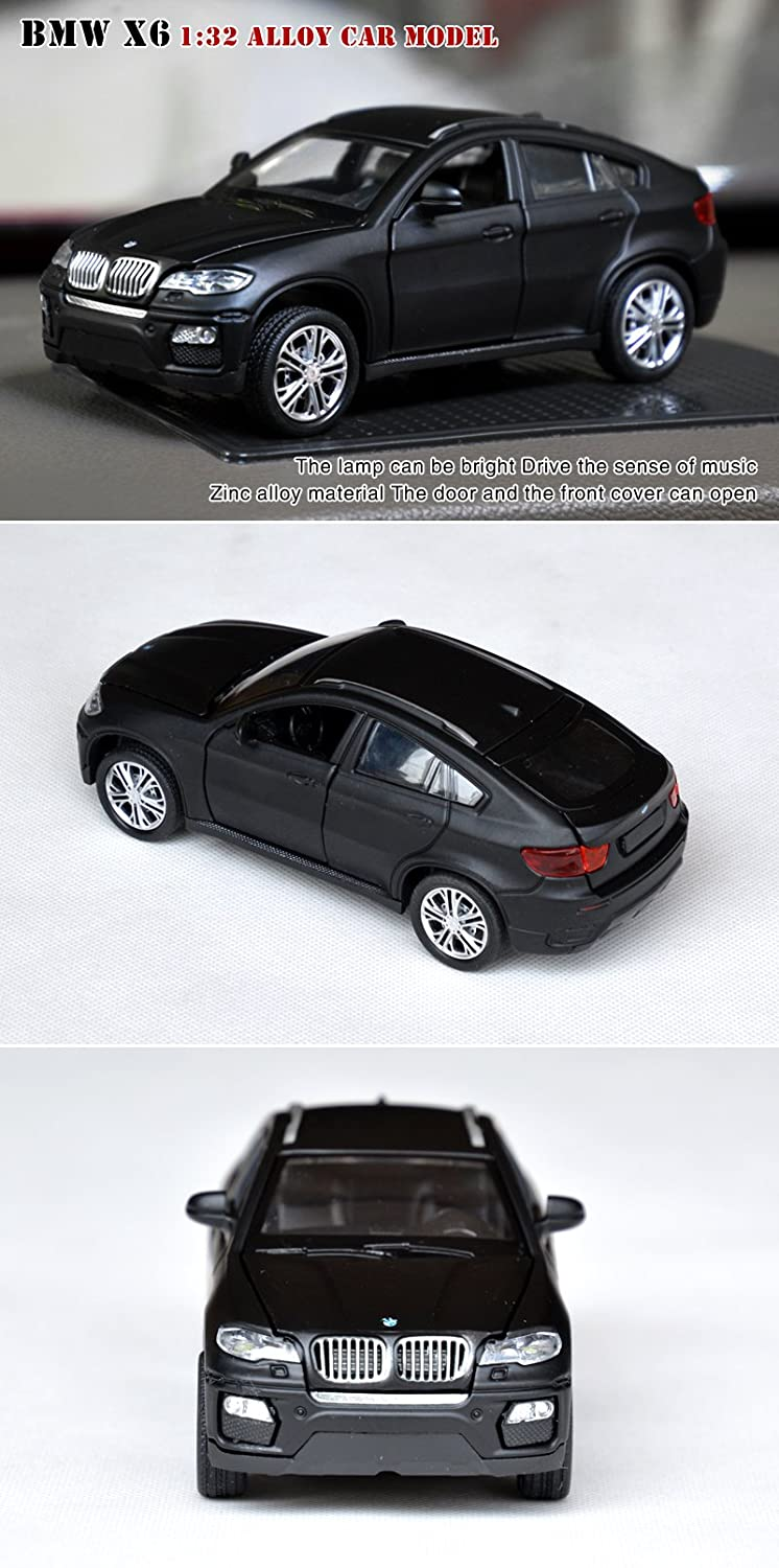 Tianmei BMVV X6 Jeep SUV Styling 1:32 Scale Alloy Die-Cast Car Model Collection, Childrens Play Vehicles and Pull Back Kids Toys with Open Doors Will ...