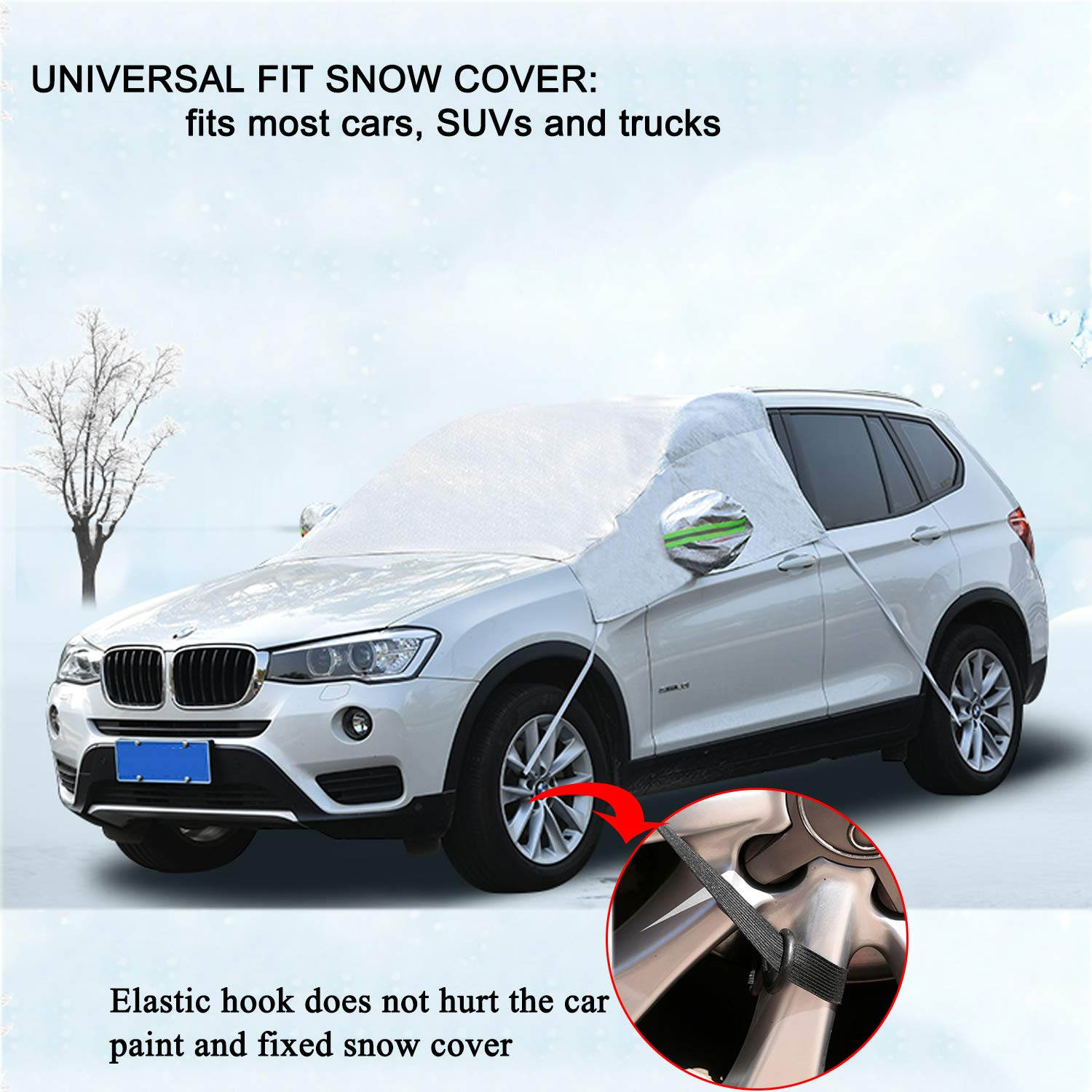 Car Windshield Cover Auto Car Windscreen Snow Ice Frost Dust Guard Cover 2018 Upgrade Premium Waterproof Windshield Protector for Car//Truck//SUV