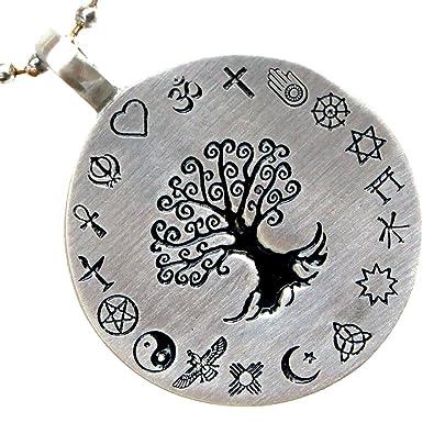 Pagan tree of life coexist world religions pewter pendant w silver pagan tree of life coexist world religions pewter pendant w silver ball chain aloadofball Gallery