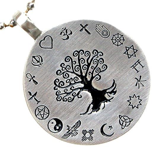 Amazon pagan tree of life coexist world religions pewter pagan tree of life coexist world religions pewter pendant w silver ball chain aloadofball Gallery