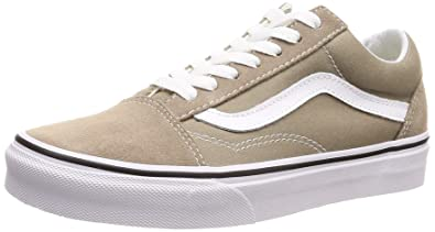 8b400e448ce6 Vans Womens Old Skool Desert Taupe True White Sneaker - 3.5