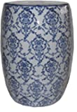 Sagebrook Home 11841 Ceramic Garden Stool, Blue/White Ceramic, 13 x 13 x 18 Inches