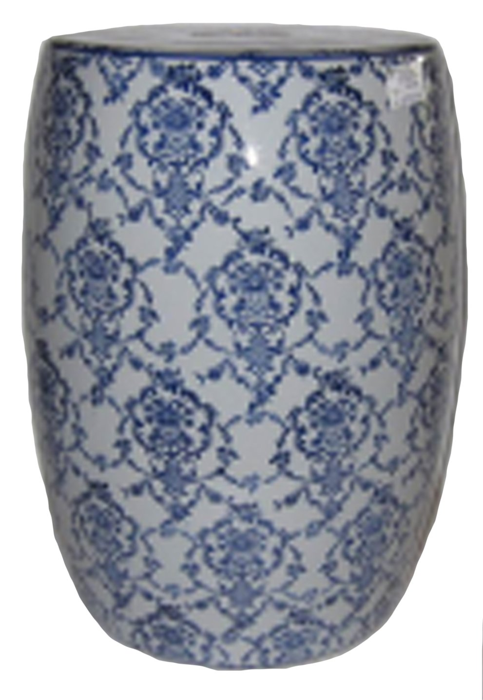 Sagebrook Home 11841 Ceramic Garden Stool, Blue/White Ceramic, 13 x 13 x 18 Inches