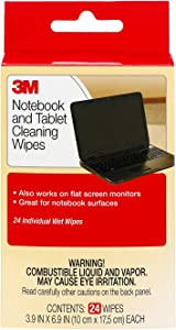 3M Notebook Screen Cleaning Wipes, 3.9x 6.9 Inches (CL630), White