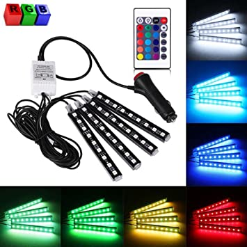 Led car lights interiorcar led strip light 4pcs dc 12v multi color led car lights interiorcar led strip light 4pcs dc 12v multi color car mozeypictures Images