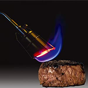 BLUEFIRE Propane Gas Cooking Grill Searing Head Attachment, Searzall Equivalent Professional Chef Blowtorch,for Sous Vide Steak Grilling,Barbecue, Bakery Culinary Tool