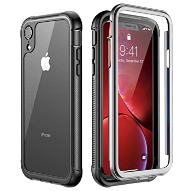competitive price b25d0 611b5 ATOP iPhone Xr case, Full-Body Protection Rugged Clear Bumper Case with  Built-in Screen Protector,Heavy Duty Dropproof Shockproof Case for iPhone  Xr ...