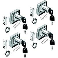 youtu 4 stuks meubelslot cilinder-meubelslot schroefslot slot kastset voor laden & kasten | vernikkeld staal | doornmaat…