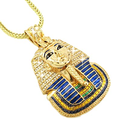 Amazon hip hop bling glod tone king tut pharaoh pendant hip hop bling glod tone king tut pharaoh pendant mozeypictures Image collections